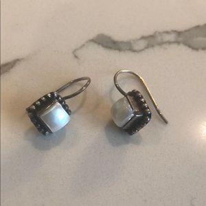 Silpada Sterling silver / pearl earrings